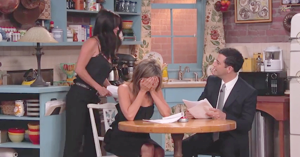 Watch Jimmy Kimmel Surprise Jennifer Aniston By Getting The 'Friends' Gang Back Together